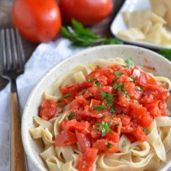 Whole Wheat Penne Pasta and Pomodoro Sauce | www.eatsparkcity.org