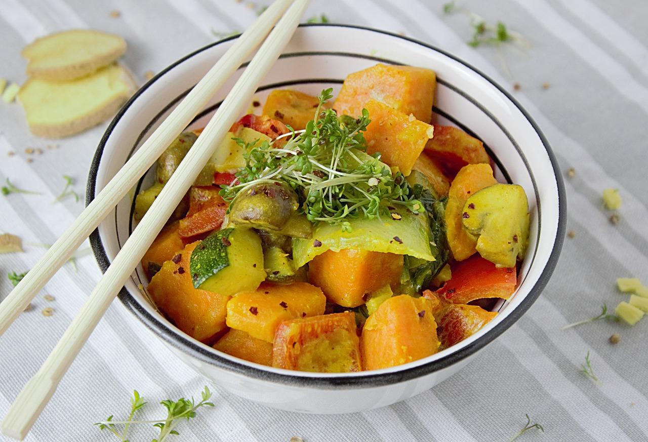 veggie green curry