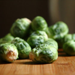 Roasted Brussel Sprouts with Golden Raisins