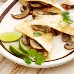 Mushroom and Corn Quesadilla - EATS Park City