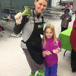Ann with Broccoli socks on