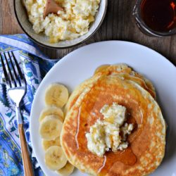 Homemade Pancakes with Deer Valley Banana Butter