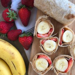 Banana Strawberry Sunbather Sushi