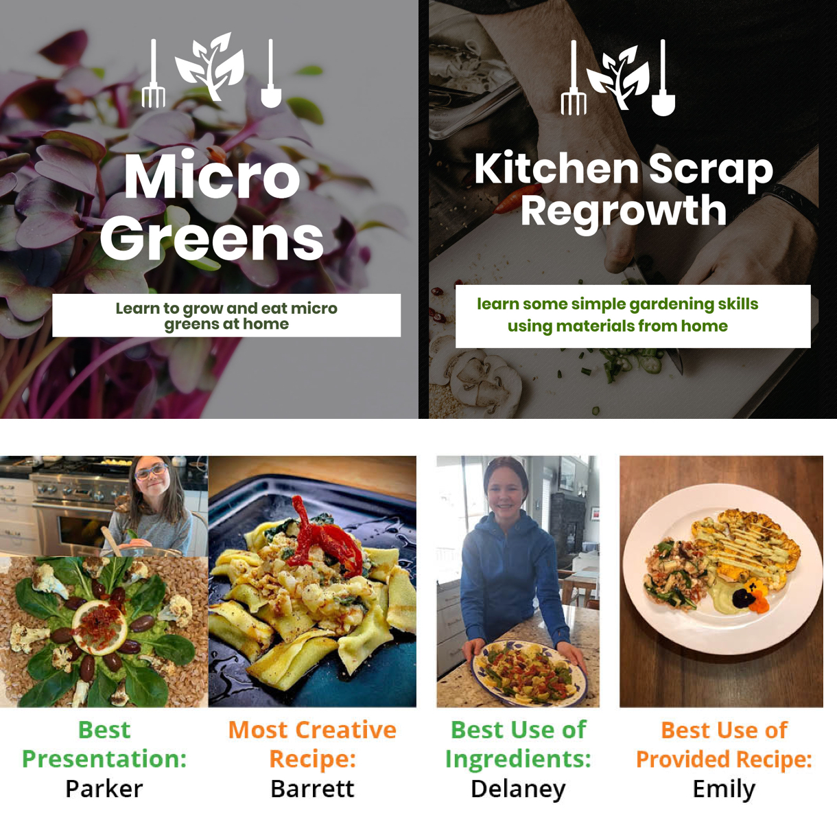 EATS Updates, Earth Day Cooking Competition, Online Classes & More!
