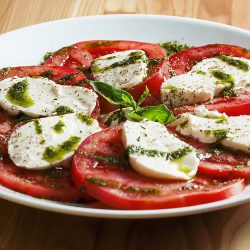 Red and White Caprese Salad