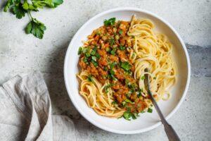 Easy Vegan Bolognese - EATS Park City - OMAD