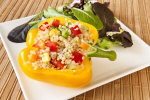 Mexican Quinoa Stuffed Peppers - EATS Park City - OMAD