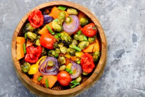 Roasted Vegetable Salad with Avocado Dressing - EATS Park City - OMAD