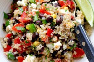 Black Bean Quinoa Salad with Basil Lemon Dressing - EATS Park City - OMAD