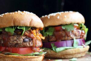 Vegan Burger Deluxe - EATS Park City - OMAD