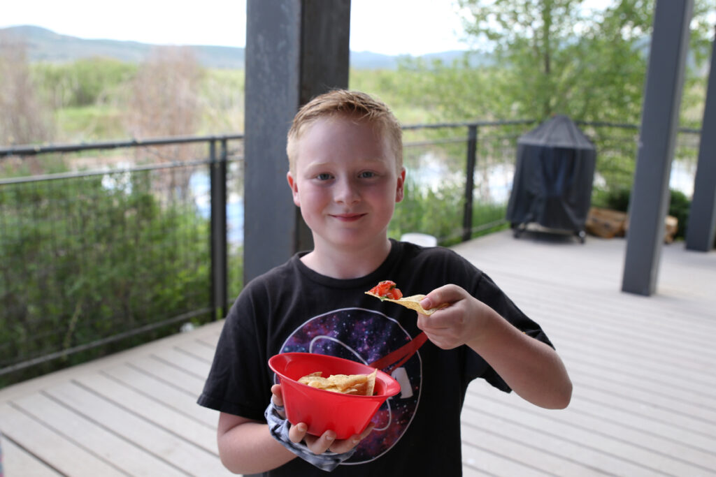 Chips and salsa, Homegrown EATS Camp at the Swaner EcoCenter